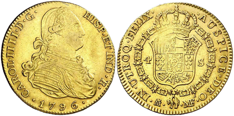 4 escudos Carlos IV