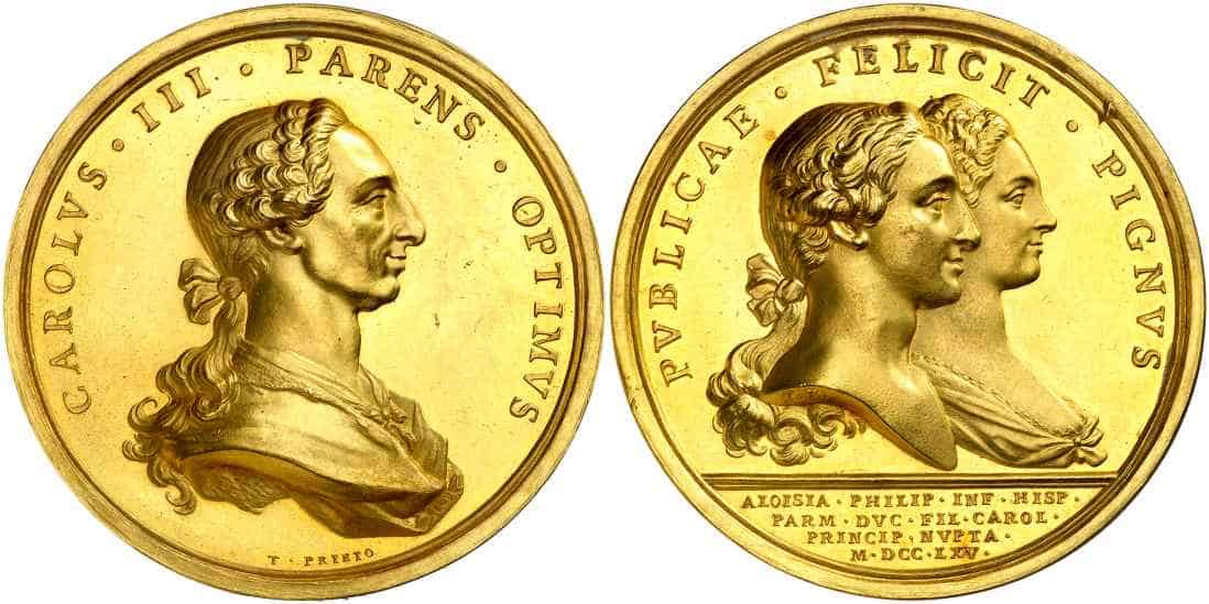 Monedas y medallas de Carlos III en Áureo & Calicó