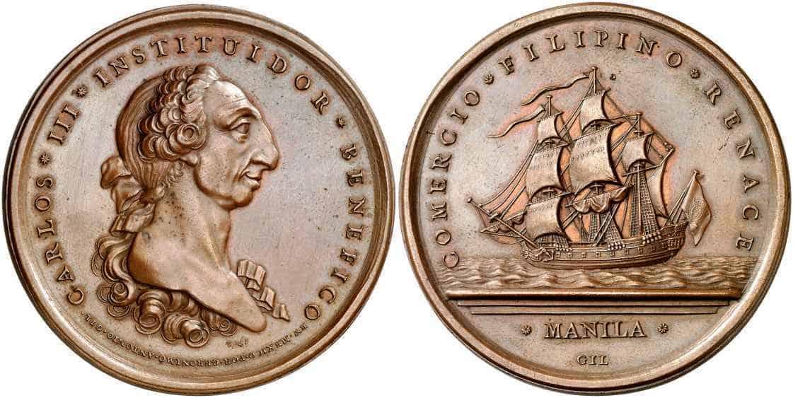 medalla Galeón de Manila