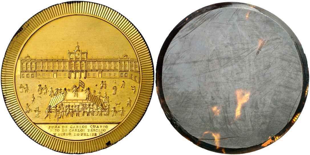 medallón Carlos IV