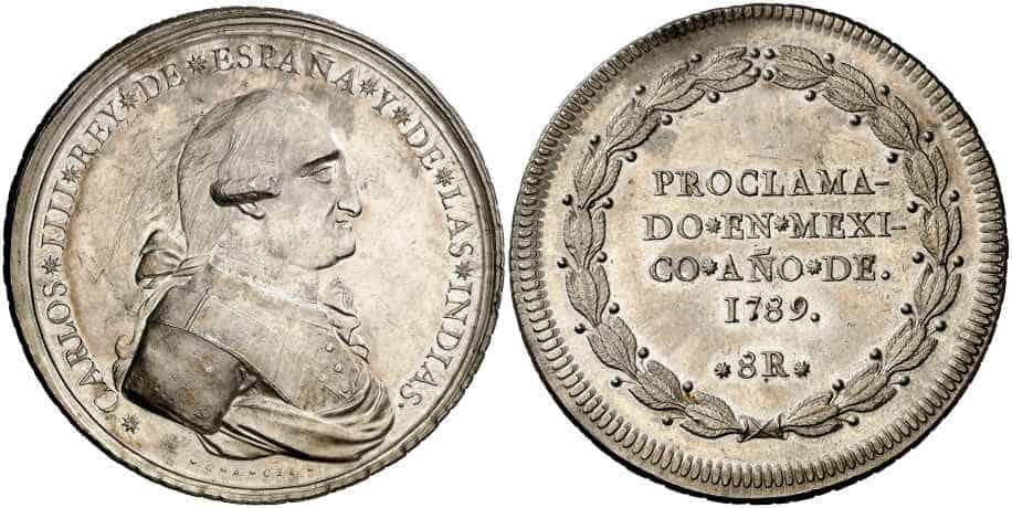 medalla Carlos IV Mexico