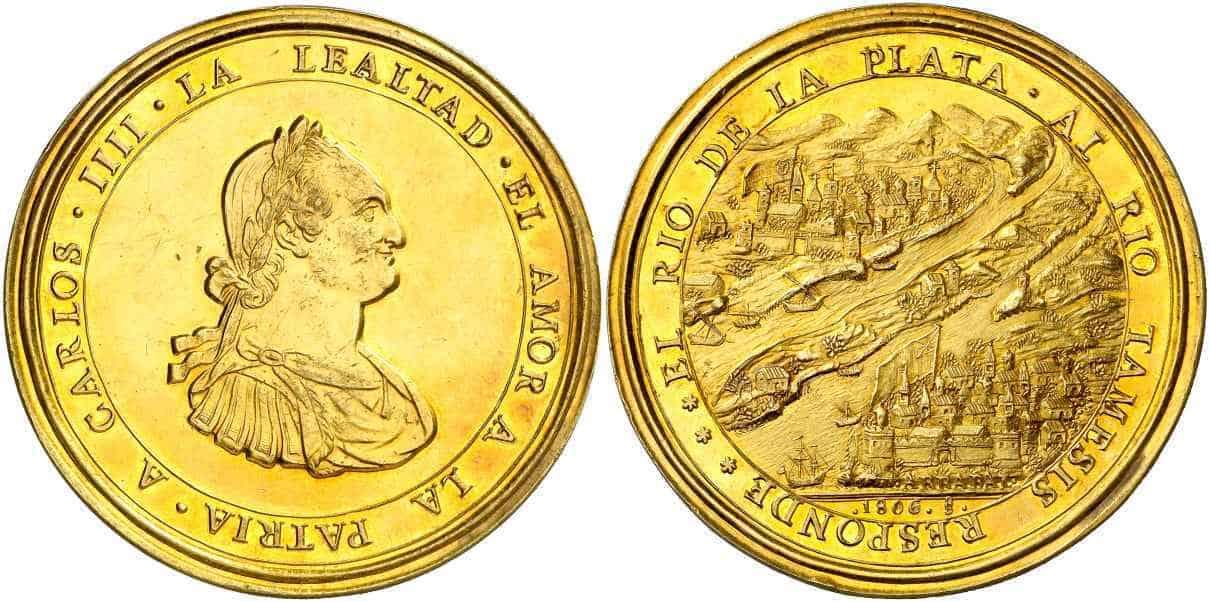 medalla Carlos IV Buenos Aires