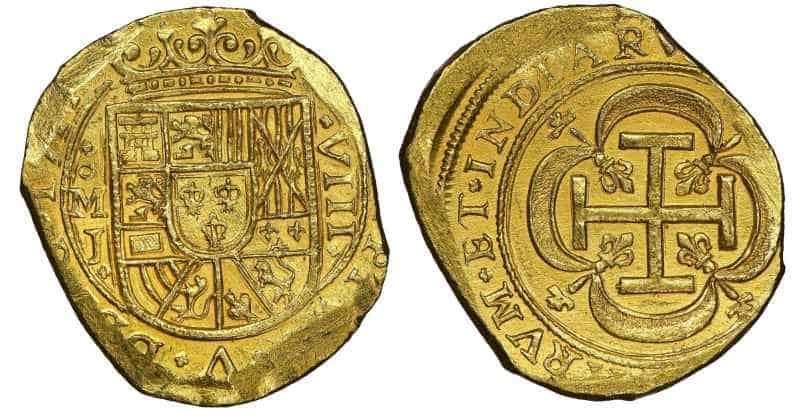 8 escudos 1714 cuños galano