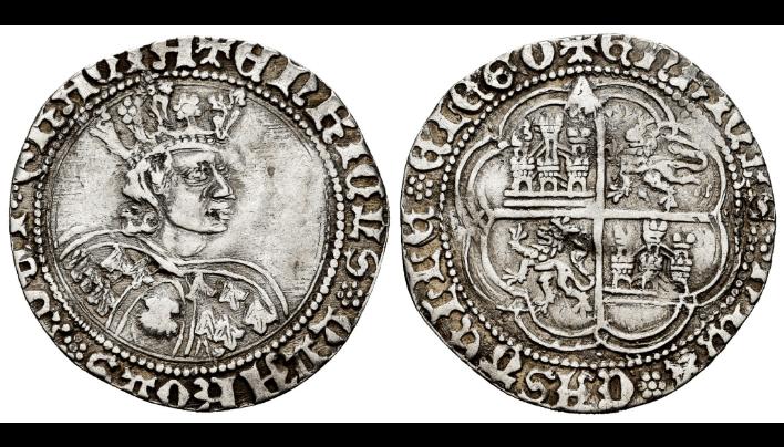 Enrique IV. 1 real de busto de La Coruña.