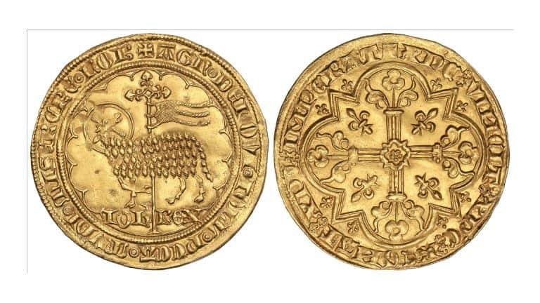<em>Mouton d'Or</em> de Juan II El Bueno