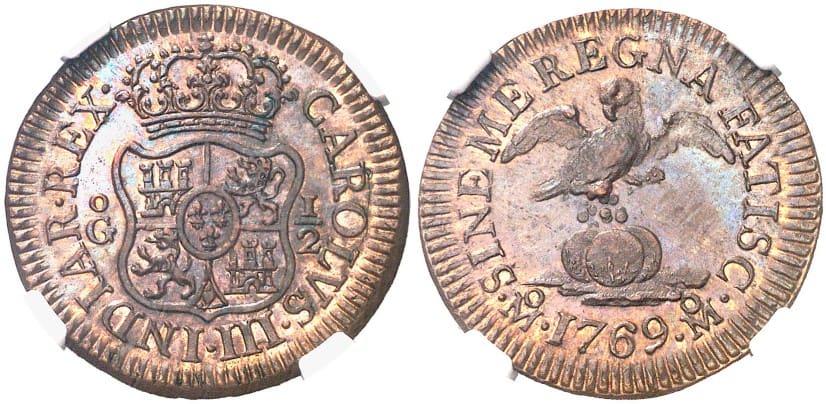 medio grano 1769 Mexico
