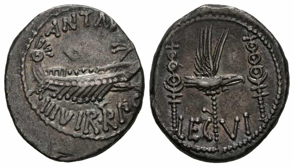 Denario Marco Antonio Legion VI