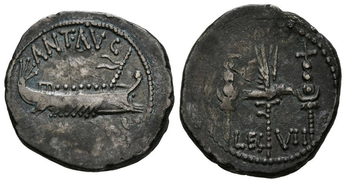 Denario Marco Antonio Legion VII