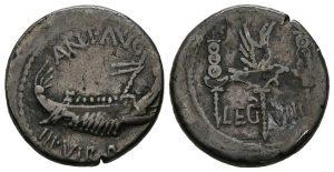 Denario Marco Antonio Legion VIII