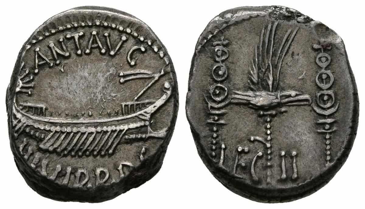 Denario Marco Antonio Legion II