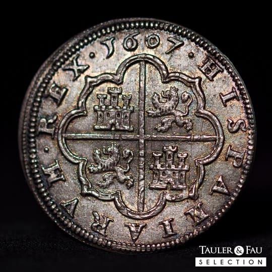4 reales, Segovia, 1607