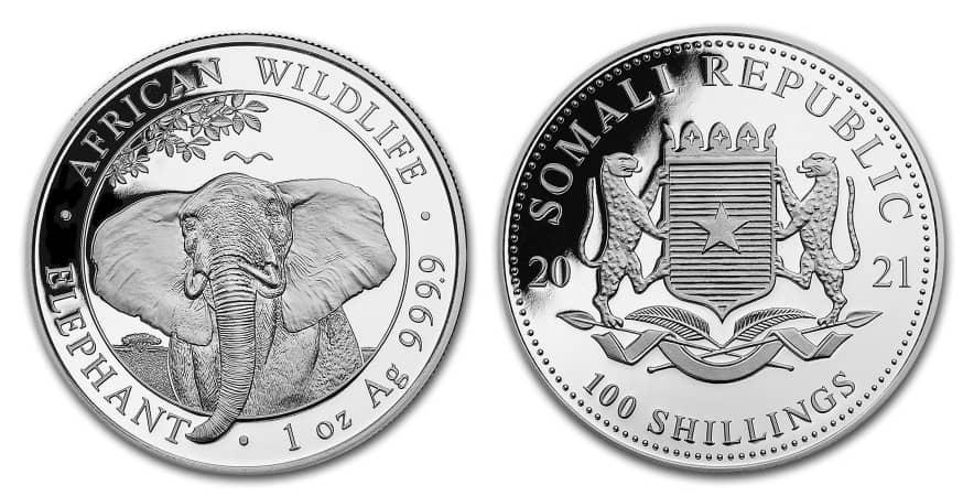 1 onza Elefante Somalia 2021