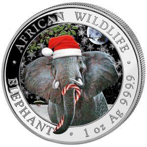 Somalia 1 onza elefante Navidad