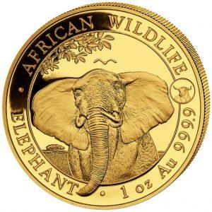 Somalia 1 onza elefante año buey