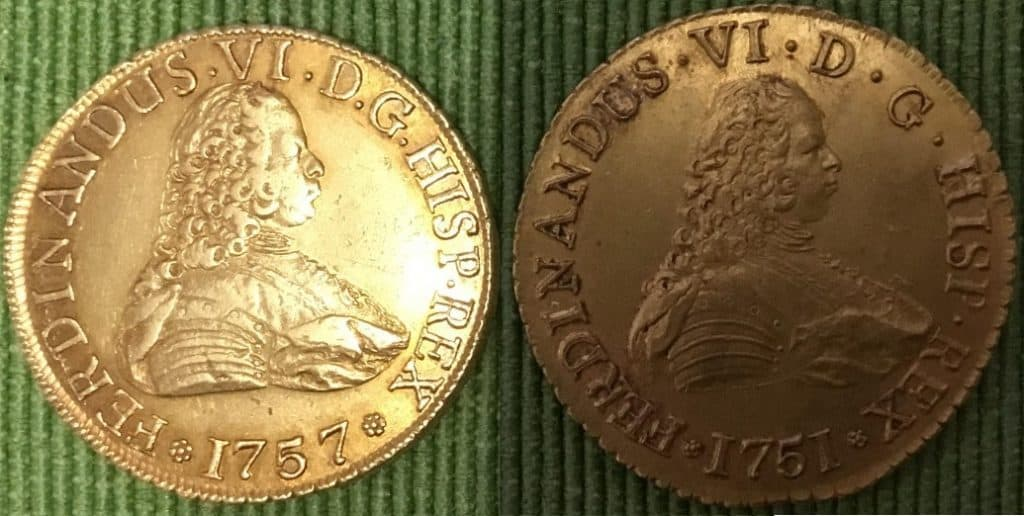 8 escudos Santiago 1751