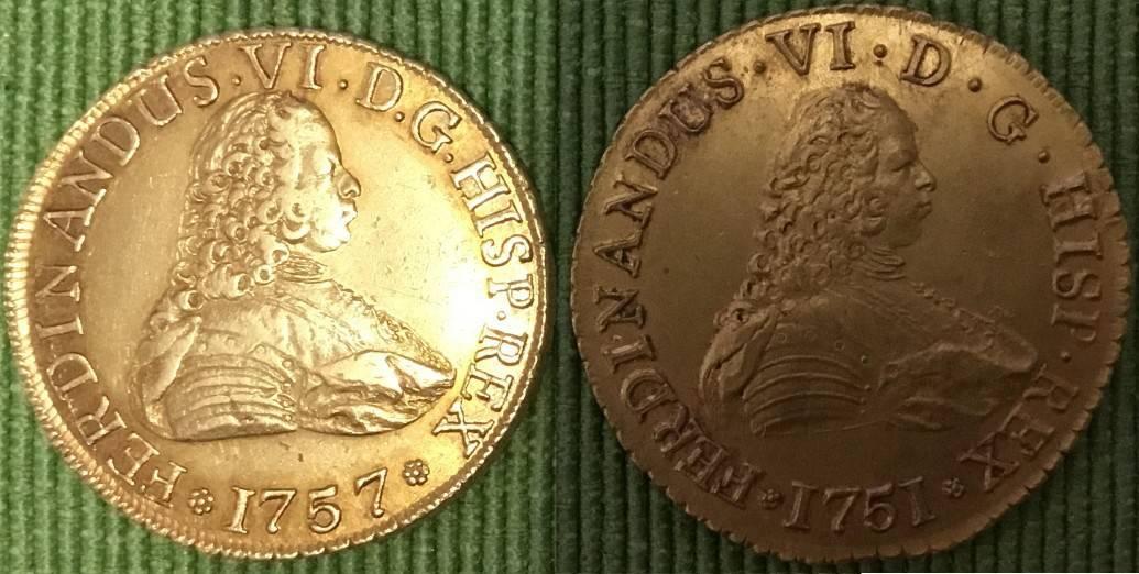 Flan grande y pequeño en los 8 escudos de Santiago
