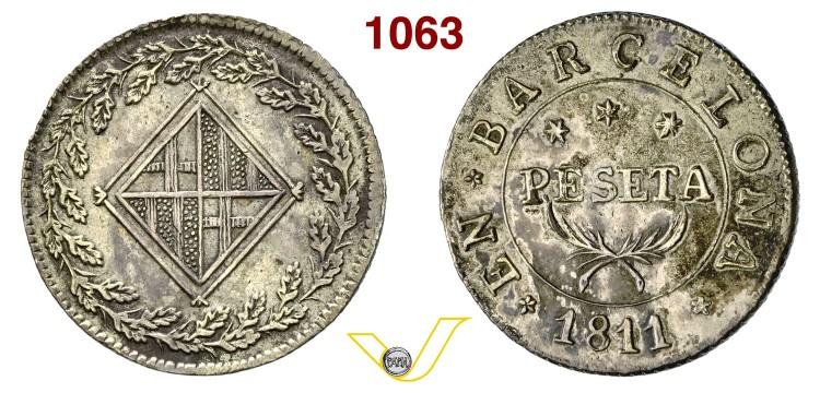 1 peseta 1811