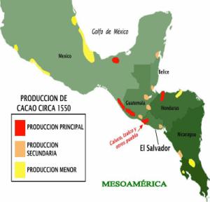 Mapa cacao época pre-hispanica