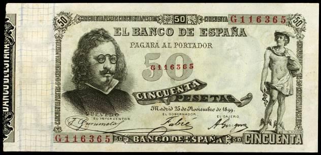 50 pesetas 1899 Quevedo