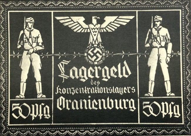 50 Pfennig, campo de concentración de Oranienburg