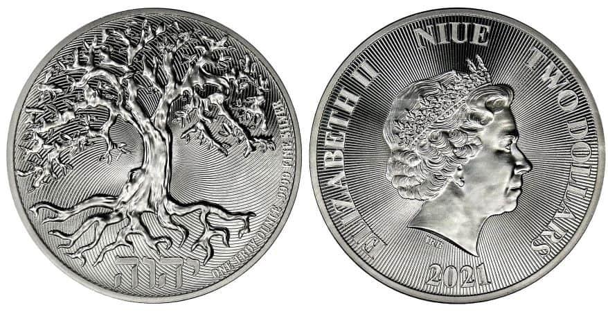 Niue, 1 onza Árbol de la Vida 2021.