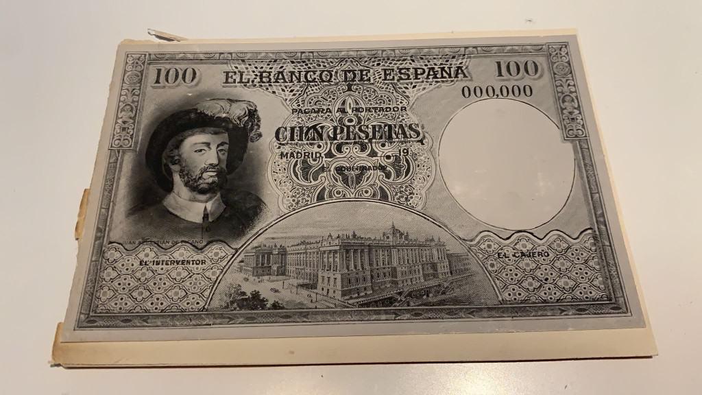 prueba impresión 100 pesetas