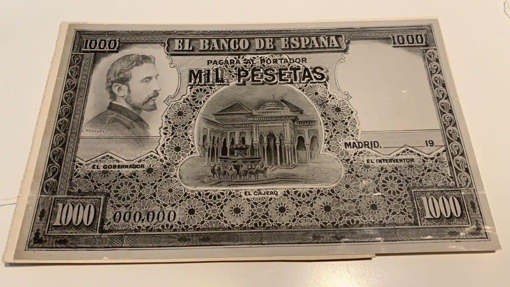 prueba impresión 1000 pesetas