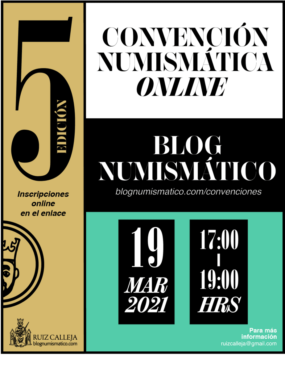 Quinta Convención Numismática Online, 19 de marzo a las 17.00
