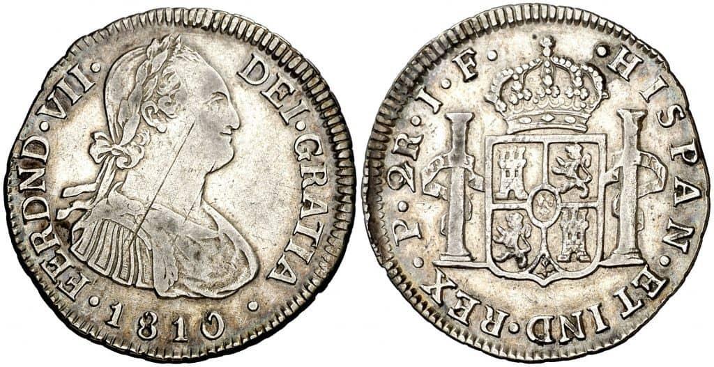 2 reales Popayán 1810