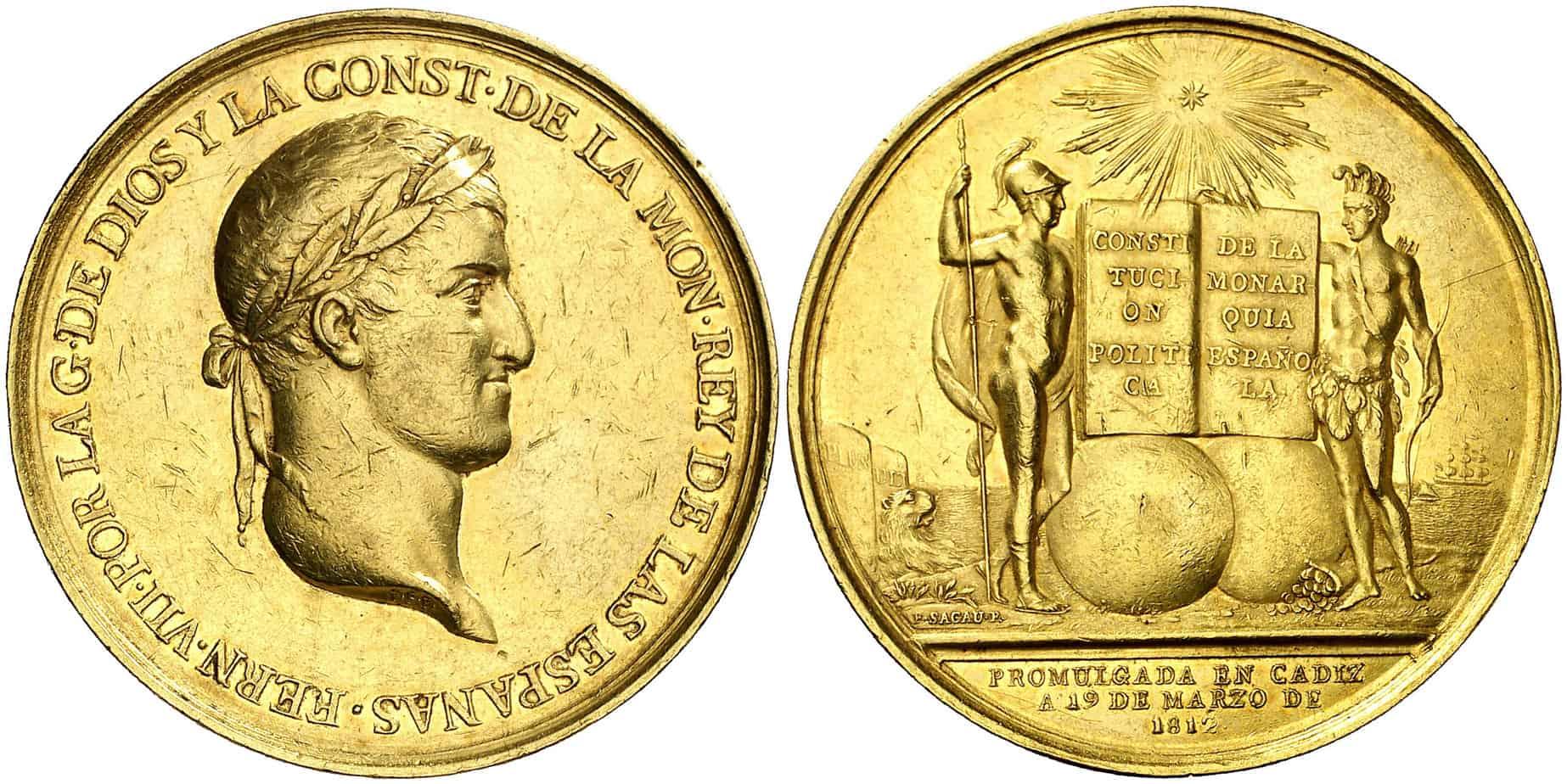 medalla Constitución de Cádiz oro