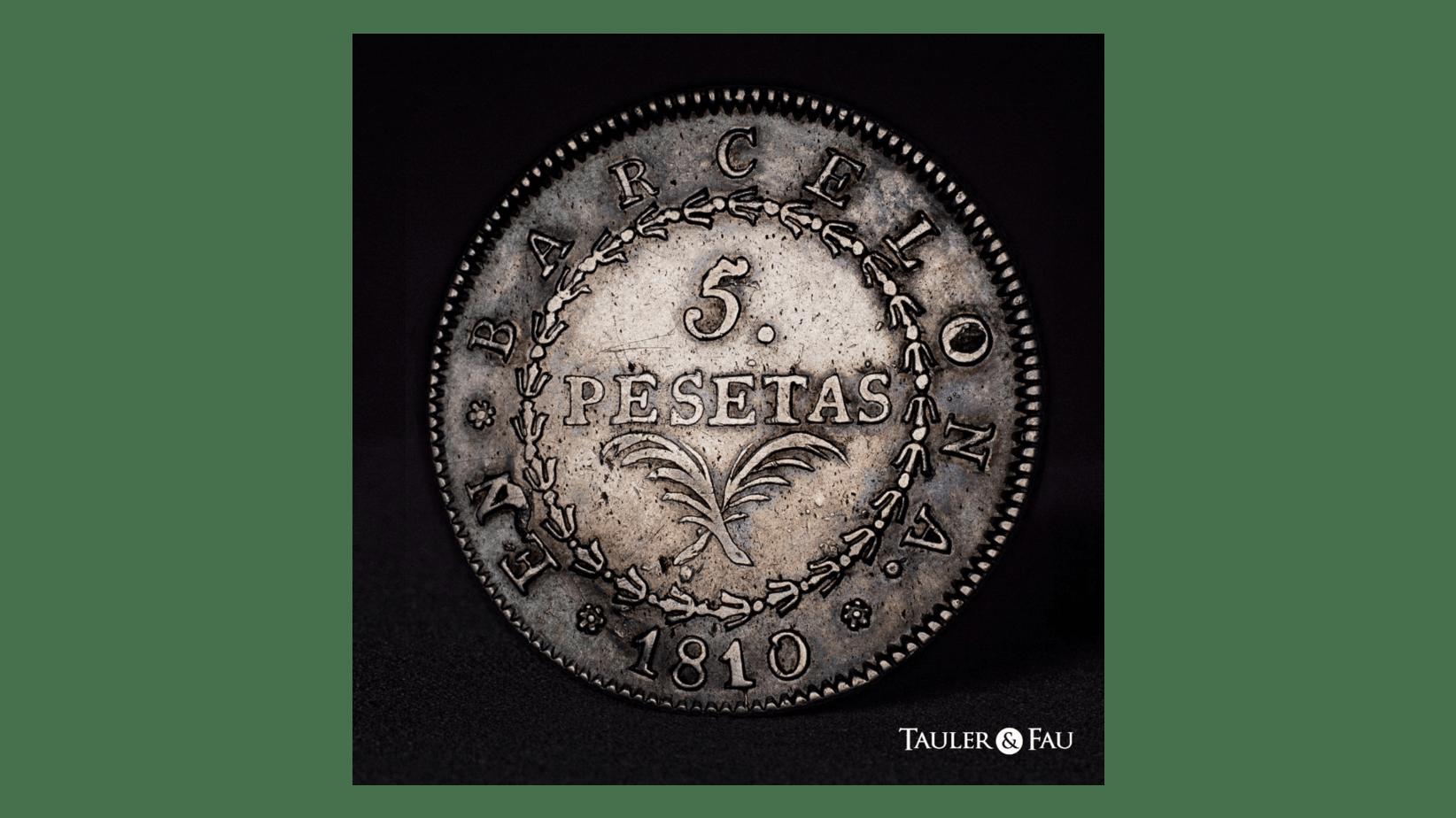 5 pesetas 1810 anverso