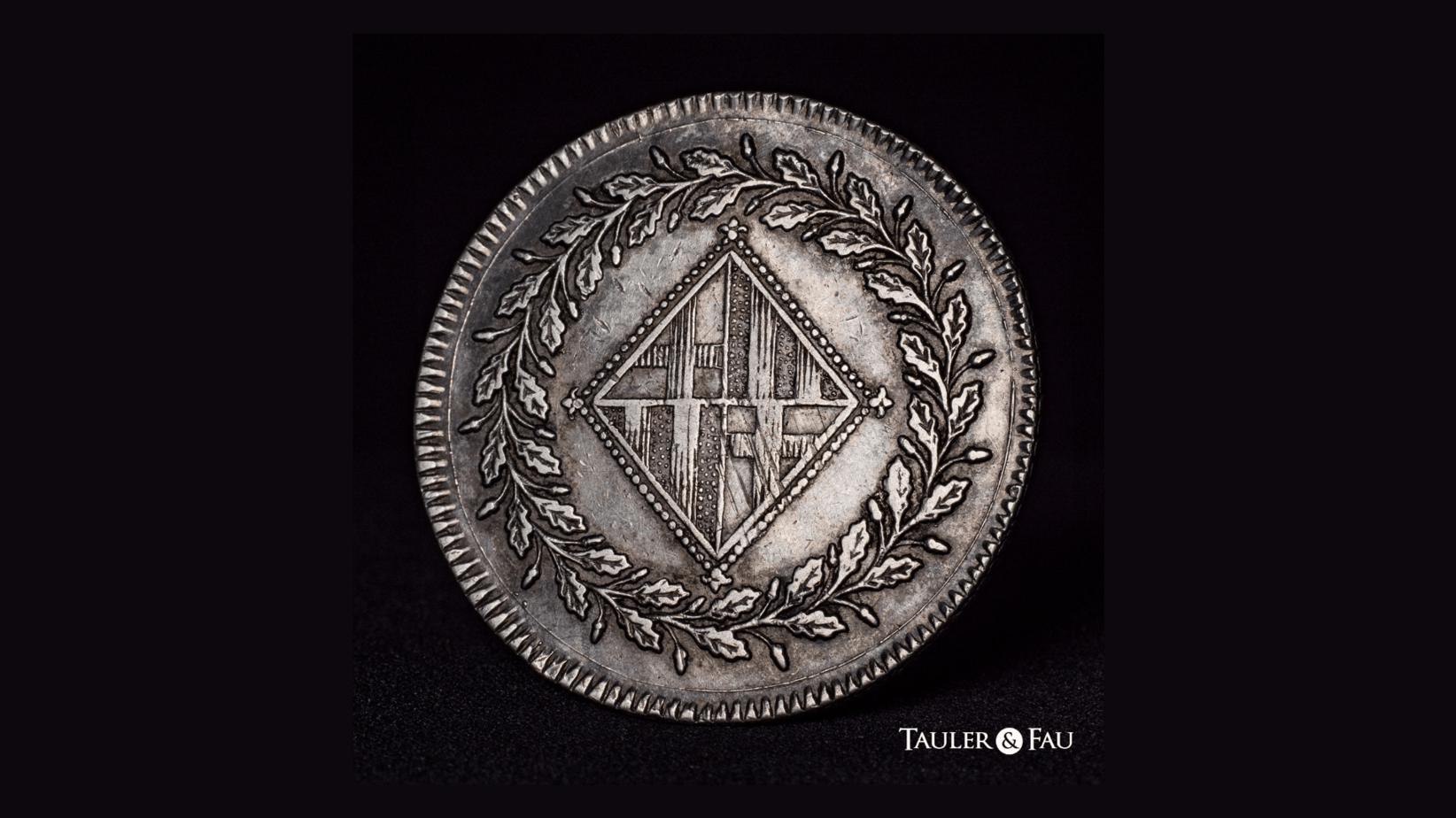 5 pesetas 1810 reverso