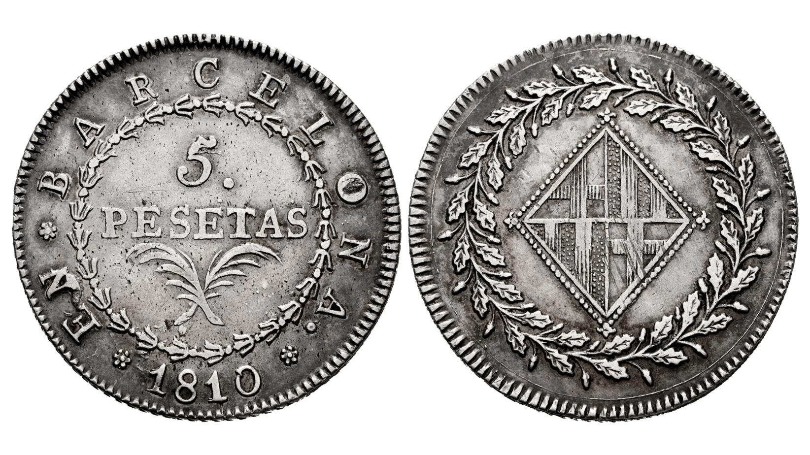 5 pesetas 1810