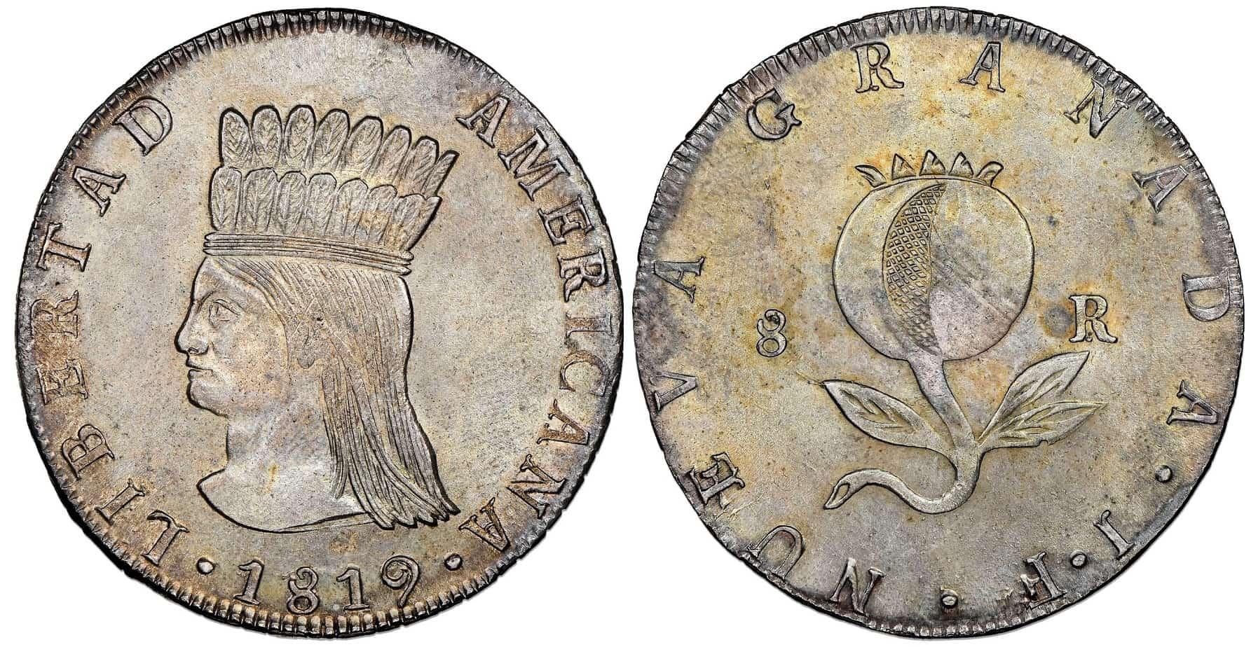 8 reales de Bogotá, 1819