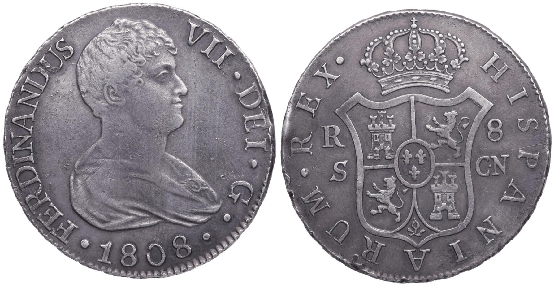 8 reales 1808, Sevilla