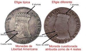 4 reales Bogotá 1819