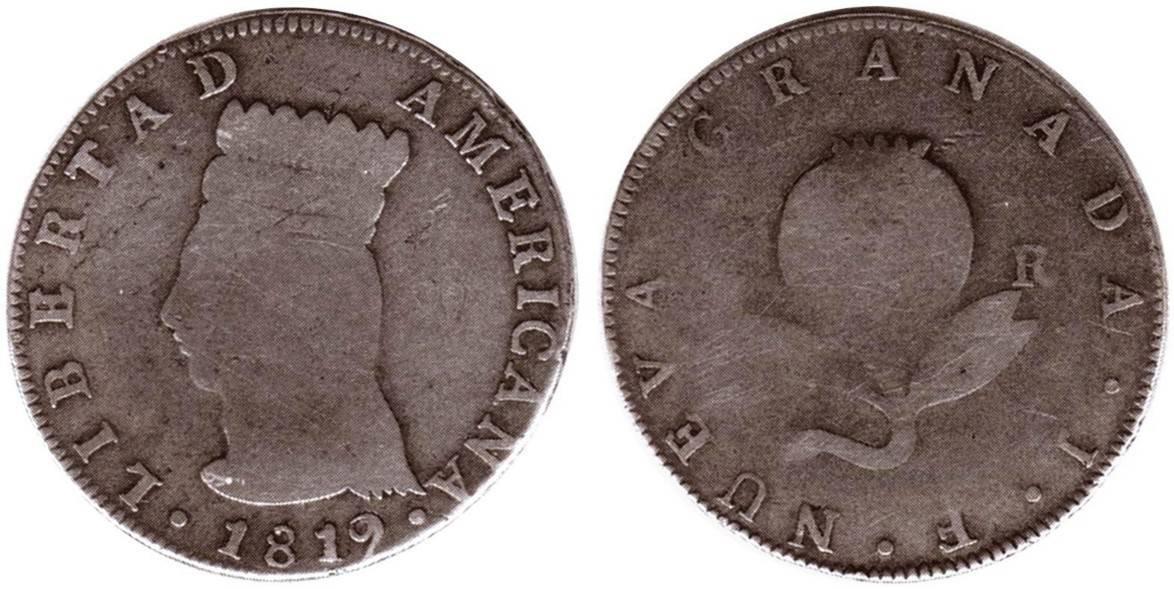 4 reales Bogotá, 1819