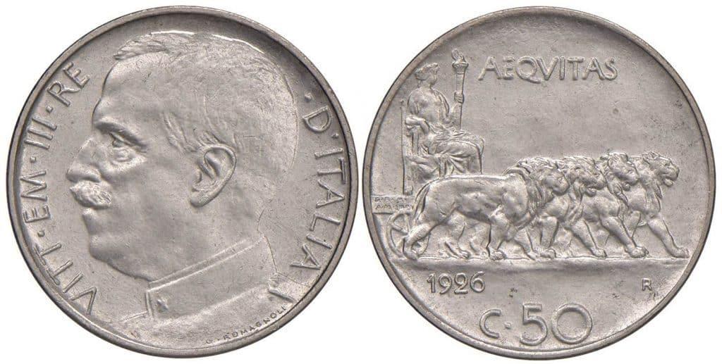 Víctor Manuel III - 50 centesimi 1926