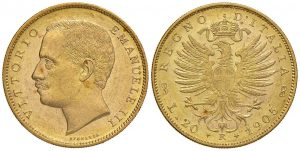 Víctor Manuel III - 20 liras 1905