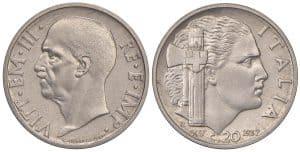 Víctor Manuel III - 20 centesimi 1937