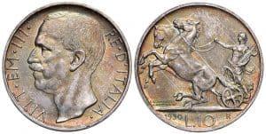Víctor Manuel III - 10 liras 1930