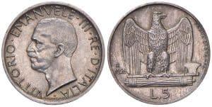 Víctor Manuel III - 5 liras 1926