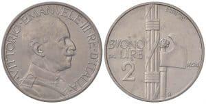Víctor Manuel III - 2 liras 1924