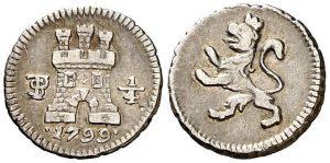 1/4 de real. Potosí. 1799.