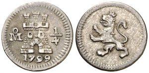 1/4 de real. México. 1799.