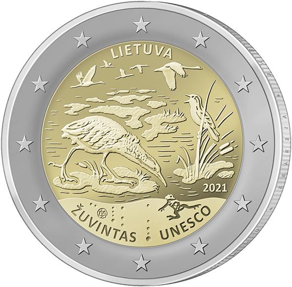 ERROR: 2 euros Lituania 2021 con canto letón