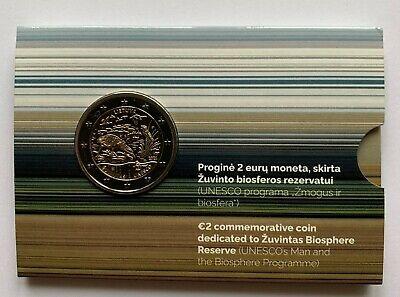 Cartera de los 2 euros Lituania 2021. Žuvintas.
