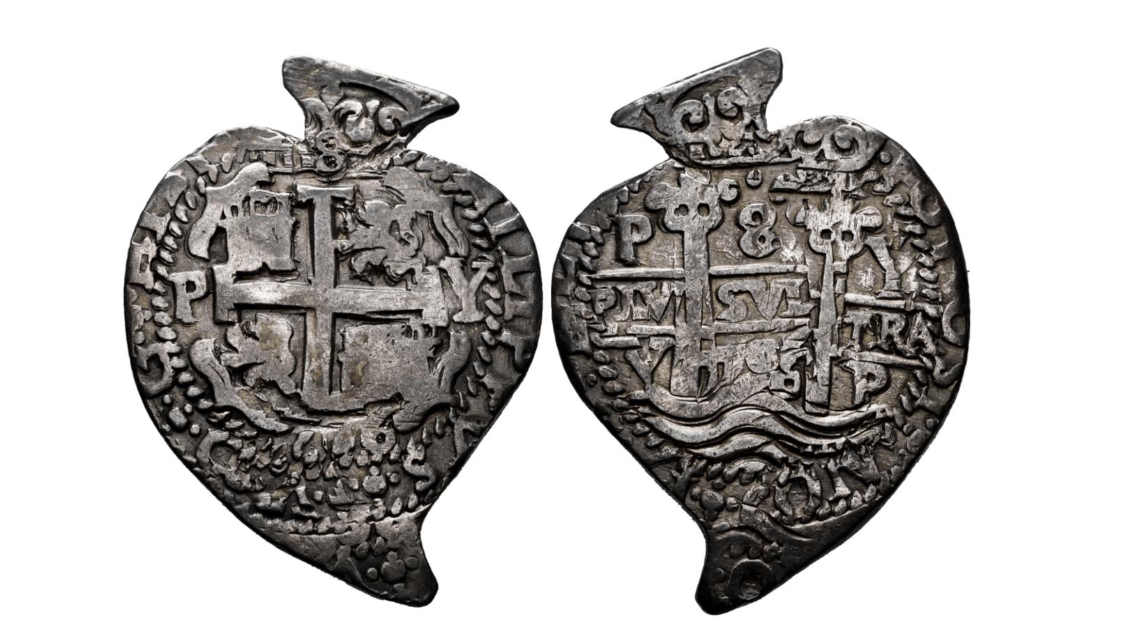 8 reales «corazón», 1706