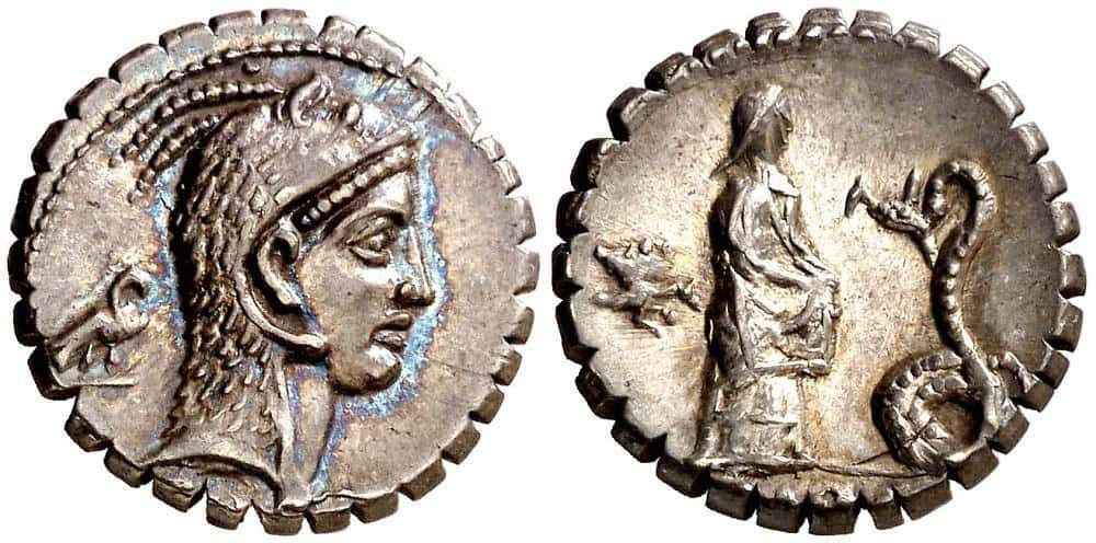 Qué ocurrió con los denarios de <em>gens Roscia</em>