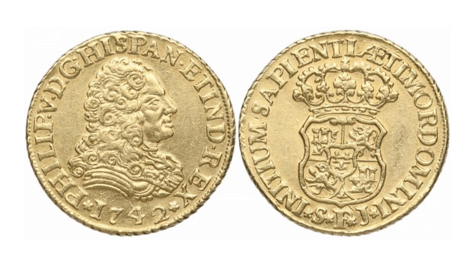 2 escudos de Sevilla, 1742